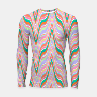 Thumbnail image of Infinity, retro colors of abstract ikat chevron pattern Longsleeve rashguard , Live Heroes