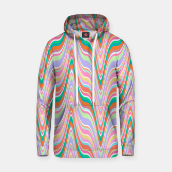 Thumbnail image of Infinity, retro colors of abstract ikat chevron pattern Hoodie, Live Heroes