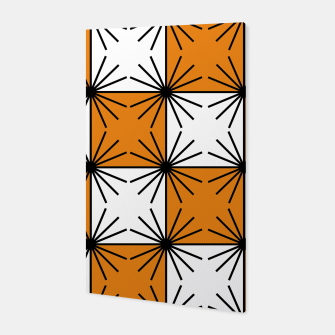 Miniature de image de Abstract geometric pattern - orange, black and white. Canvas, Live Heroes