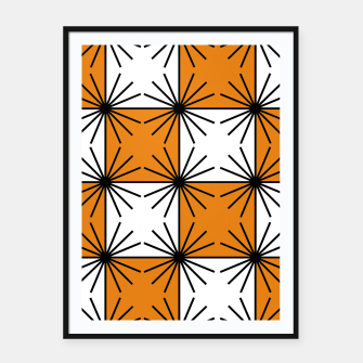 Imagen en miniatura de Abstract geometric pattern - orange, black and white. Framed poster, Live Heroes