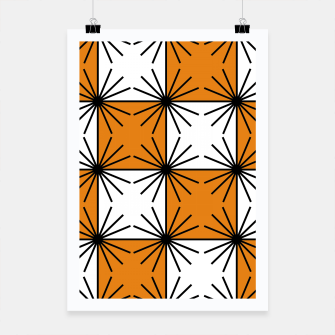 Miniatur Abstract geometric pattern - orange, black and white. Poster, Live Heroes