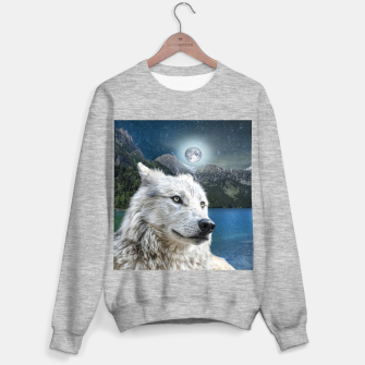 Miniaturka White Wolf and Moonlight Sweater regular, Live Heroes