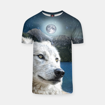 Miniaturka White Wolf and Moonlight T-shirt, Live Heroes