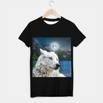 Miniaturka White Wolf and Moonlight T-shirt regular, Live Heroes