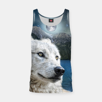 Miniaturka White Wolf and Moonlight Tank Top, Live Heroes