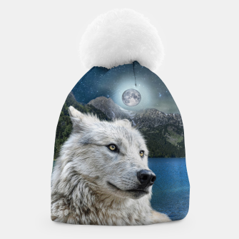Miniaturka White Wolf and Moonlight Beanie, Live Heroes