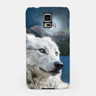 Miniaturka White Wolf and Moonlight Samsung Case, Live Heroes
