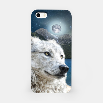 Miniaturka White Wolf and Moonlight iPhone Case, Live Heroes