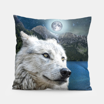 Miniaturka White Wolf and Moonlight Pillow, Live Heroes