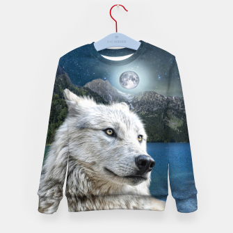 Miniaturka White Wolf and Moonlight Kid's sweater, Live Heroes