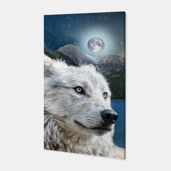 Thumbnail image of White Wolf and Moonlight Canvas, Live Heroes