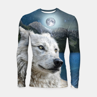 Miniaturka White Wolf and Moonlight Longsleeve rashguard , Live Heroes