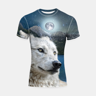 Miniaturka White Wolf and Moonlight Shortsleeve rashguard, Live Heroes
