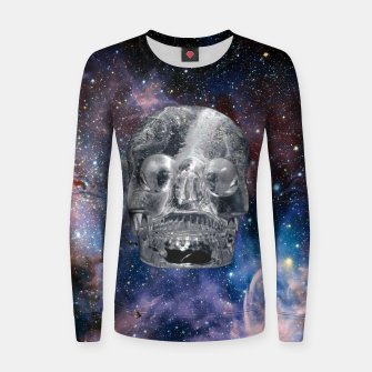 Miniaturka Crystall Skull and Galaxy Women sweater, Live Heroes