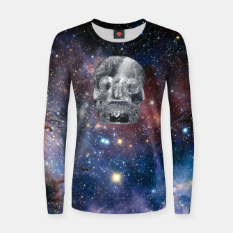 Miniaturka Crystal Skull and Galaxy  Women sweater, Live Heroes