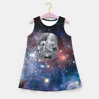 Miniaturka Crystal Skull and Galaxy  Girl's summer dress, Live Heroes