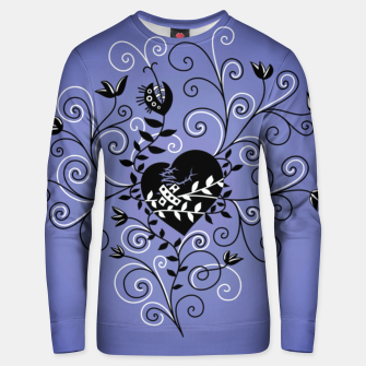 Broken Heart Is Fixed Purple Unisex sweater thumbnail image