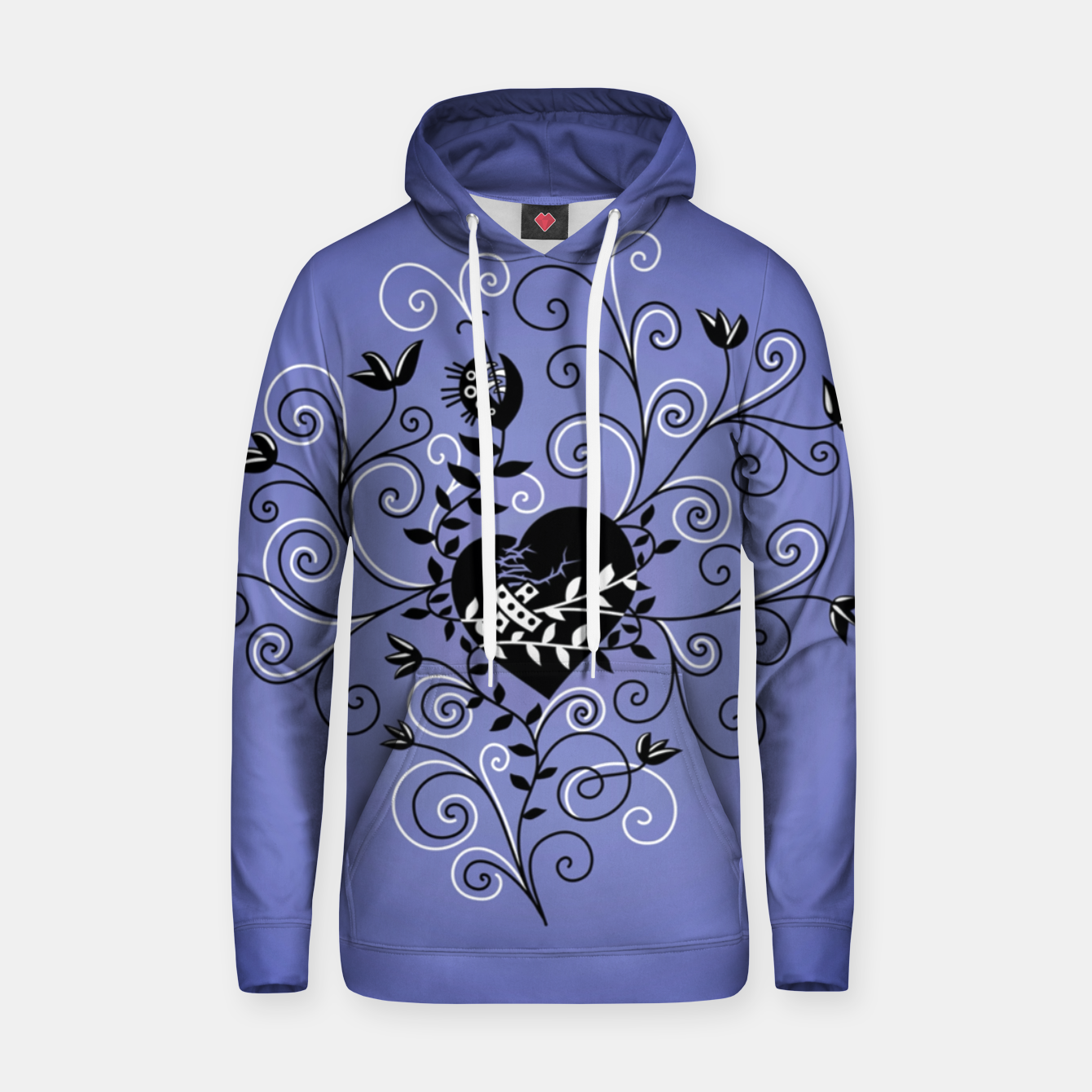 Image of Broken Heart Is Fixed Purple Hoodie - Live Heroes