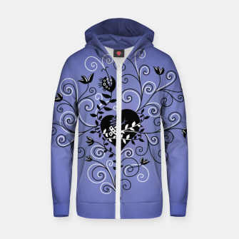 Broken Heart Is Fixed Purple Zip up hoodie thumbnail image