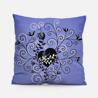 Broken Heart Is Fixed Purple Pillow thumbnail image