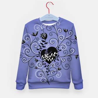 Broken Heart Is Fixed Purple Kid's sweater thumbnail image