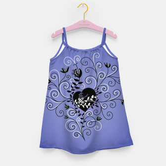 Broken Heart Is Fixed Purple Girl's dress thumbnail image