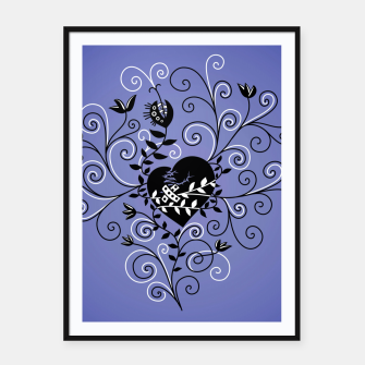 Thumbnail image of Broken Heart Is Fixed Purple Framed poster, Live Heroes