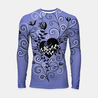 Thumbnail image of Broken Heart Is Fixed Purple Longsleeve rashguard , Live Heroes