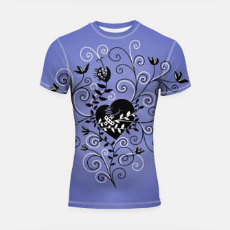 Thumbnail image of Broken Heart Is Fixed Purple Shortsleeve rashguard, Live Heroes