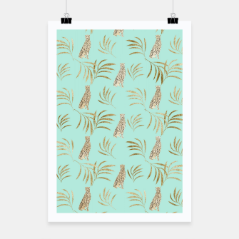 Miniatur Cheetah Eucalyptus Glam Pattern #6 #tropical #decor #art  Plakat, Live Heroes