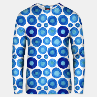 Thumbnail image of Classic Blue and White Watercolour Pattern Unisex sweater, Live Heroes