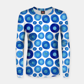 Thumbnail image of Classic Blue and White Watercolour Pattern Women sweater, Live Heroes