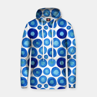 Thumbnail image of Classic Blue and White Watercolour Pattern Hoodie, Live Heroes