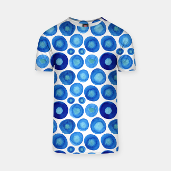 Thumbnail image of Classic Blue and White Watercolour Pattern T-shirt, Live Heroes