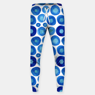 Thumbnail image of Classic Blue and White Watercolour Pattern Sweatpants, Live Heroes
