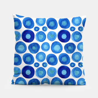 Thumbnail image of Classic Blue and White Watercolour Pattern Pillow, Live Heroes
