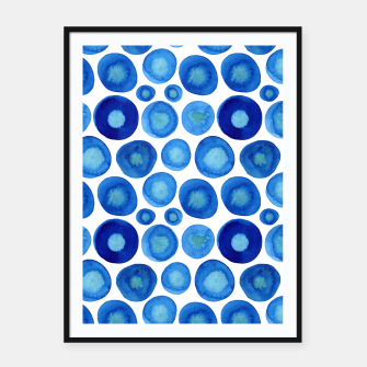 Imagen en miniatura de Classic Blue and White Watercolour Pattern Framed poster, Live Heroes