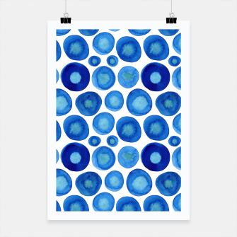 Miniatur Classic Blue and White Watercolour Pattern Poster, Live Heroes
