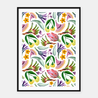Thumbnail image of Australiana Floral Pattern Framed poster, Live Heroes