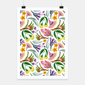 Thumbnail image of Australiana Floral Pattern Poster, Live Heroes
