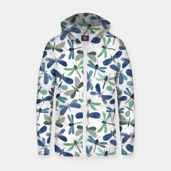 Thumbnail image of Collage of Bugs Pattern Zip up hoodie, Live Heroes