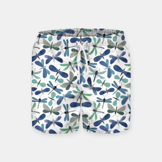 Thumbnail image of Collage of Bugs Pattern Swim Shorts, Live Heroes
