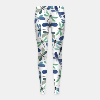Thumbnail image of Collage of Bugs Pattern Girl's leggings, Live Heroes