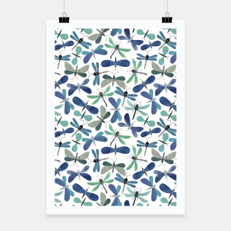 Miniatur Collage of Bugs Pattern Poster, Live Heroes