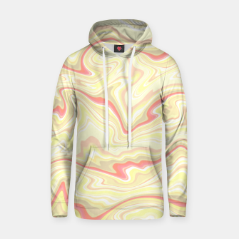 Thumbnail image of Elegant cream color marble stone pattern, pink yellow and ivory abstract illustration Hoodie, Live Heroes