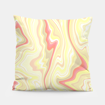 Miniature de image de Elegant cream color marble stone pattern, pink yellow and ivory abstract illustration Pillow, Live Heroes