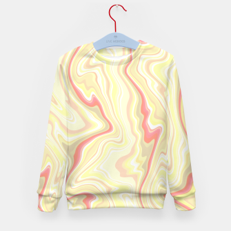 Miniature de image de Elegant cream color marble stone pattern, pink yellow and ivory abstract illustration Kid's sweater, Live Heroes