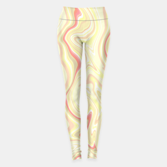 Miniature de image de Elegant cream color marble stone pattern, pink yellow and ivory abstract illustration Leggings, Live Heroes