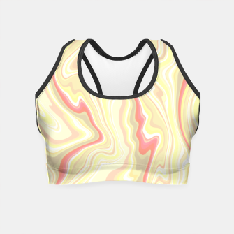 Miniature de image de Elegant cream color marble stone pattern, pink yellow and ivory abstract illustration Crop Top, Live Heroes