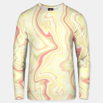 Miniature de image de Elegant cream color marble stone pattern, pink yellow and ivory abstract illustration Unisex sweater, Live Heroes